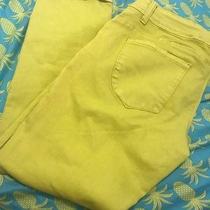 Vibrant Yellow Jean